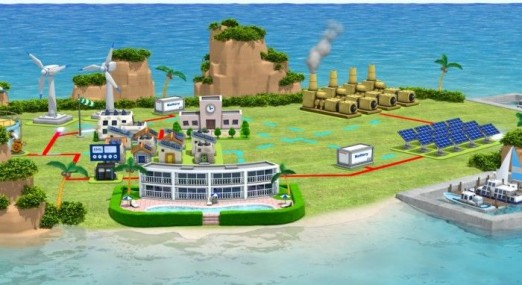 TOSHIBA Smart Grid Technology offers optimal control of power systems, Smart Grid for Island Communities